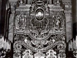 """Macchina del Triduo nella chiesa """"Santa Maria Assunta"""" anno 1937"""