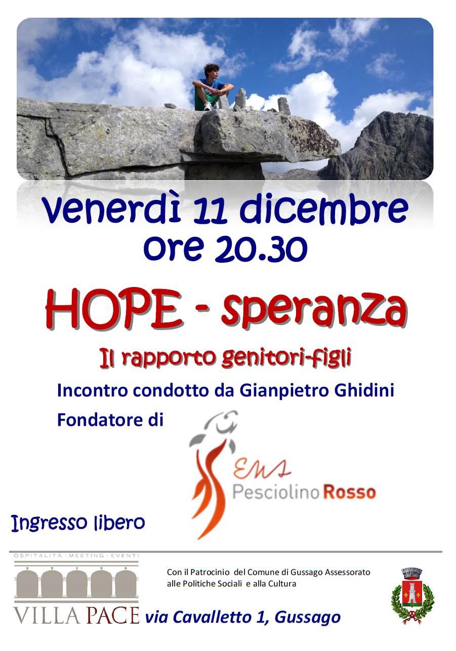 Pesciolinorosso Hope 2015
