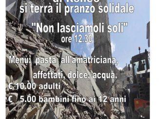Pranzo solidale terremoto Ronco febbraio 2017