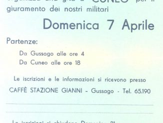 Spillo volantino giuramento Cuneo 1968