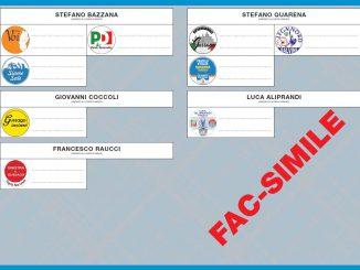 Scheda Elettorale elezioni comunali 2017