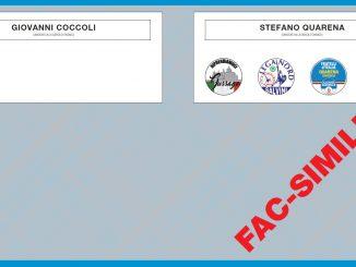 Scheda elettorale ballottaggio elezioni giugno 2017
