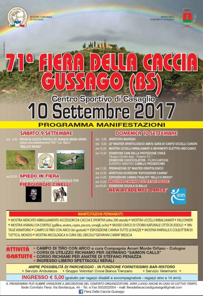 71^ Fiera della Caccia di Gussago settembre 2017