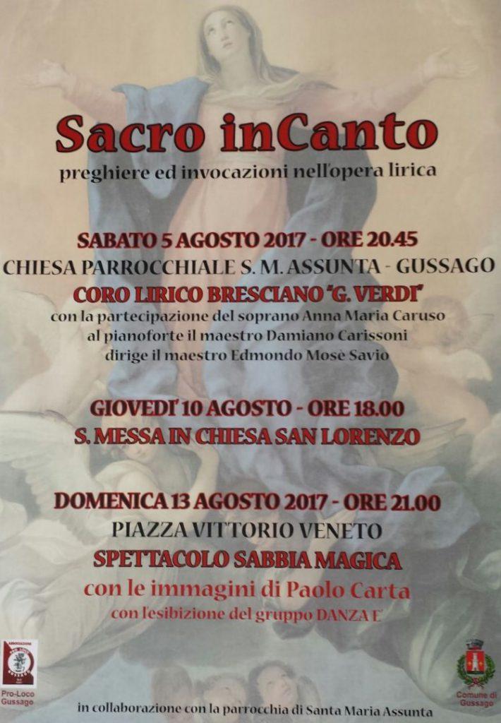 Sacro InCanto agosto 2017