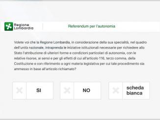 Referendum Lombardia ottobre 2017