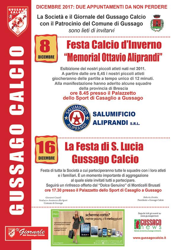 Gussago Calcio Festa Santa Lucia dicembre 2017
