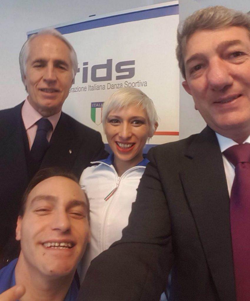 Tarek Ibrahim e Sara Greotti premiazione FIDS dicembre 2017