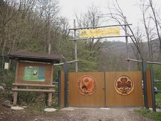 L'ingresso della base scout di Piazzole
