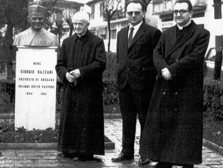 Don Valentino Bazzani, sindaco Peroni e don Angelo Porta