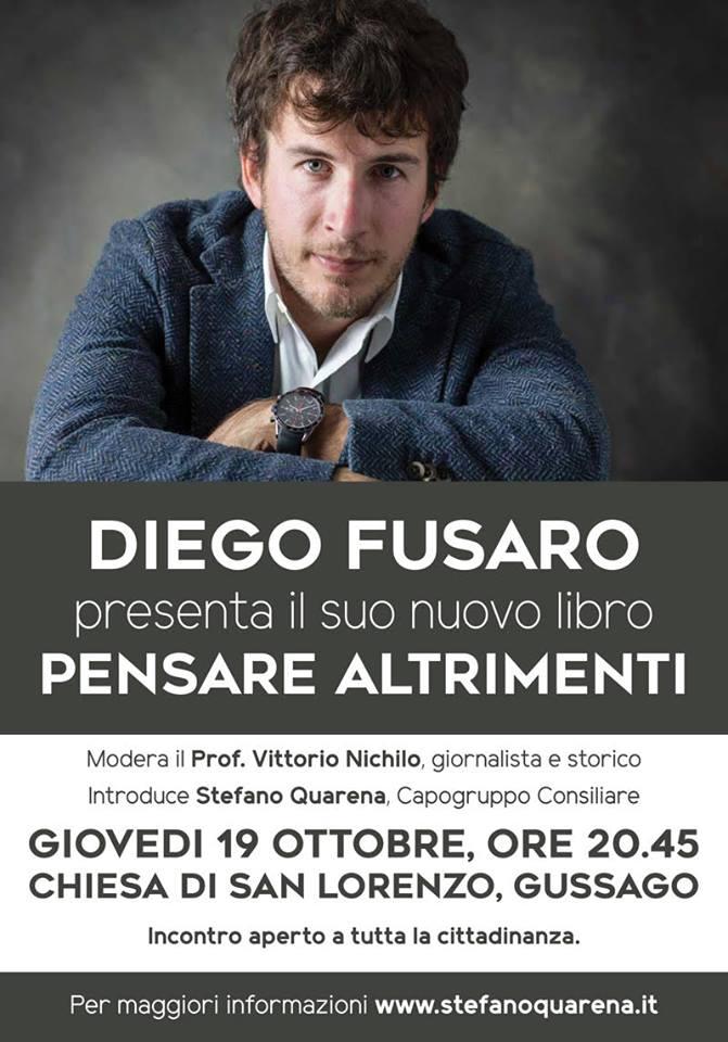 """Presentazione libro """"Pensare altrimenti"""" di Diego Fusaro ottobre 2017"""