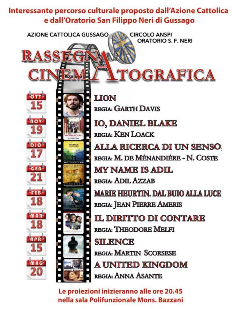 Rassegna cinematografica oratorio 2017-2018