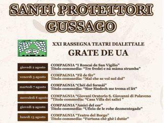 """Rassegna teatro dialettale """"Grate de ùa"""" agosto 2018"""