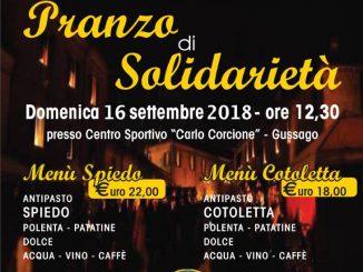Pranzo solidarietà Lions Alpini settembre 2018