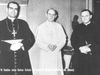 Papa Paolo VI padre Piero M. Bonometti 1969