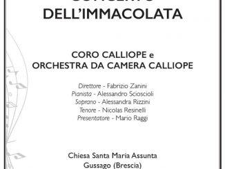 Concerto Immacolata Calliope dicembre 2018