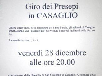 Giro presepi Casaglio dicembre 2018