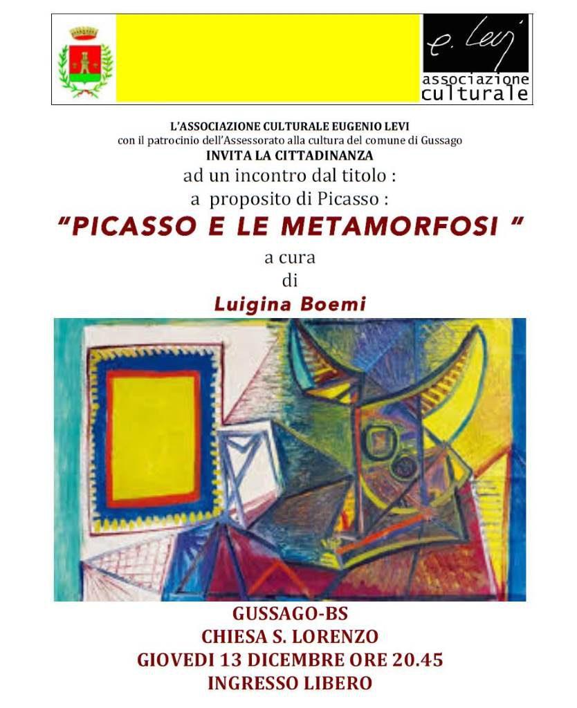 Incontro Picasso metaforfosi dicembre 2018