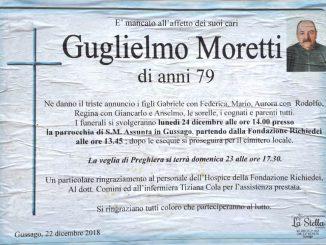 Necrologio Guglielmo Moretti 2018
