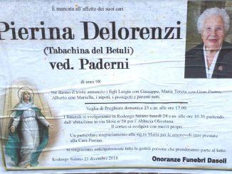 Necrologio Pierina Delorenzi 2018
