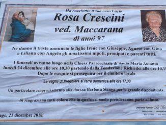 Necrologio Rosa Crescini 2018