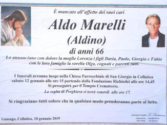 Necrologio Aldo Marelli 2019