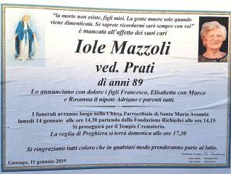 Necrologio Iole Mazzoli 2019