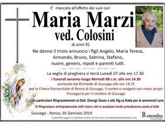 Necrologio Maria Marzi 2019