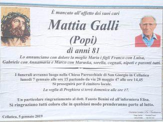 Necrologio Mattia Galli 2019
