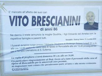 Necrologio Vito Brescianini 2018