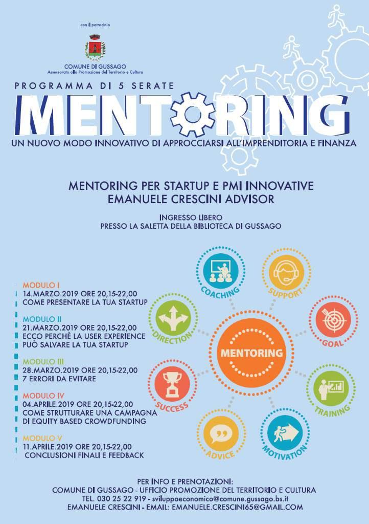 Mentoring startup pmi Crescini marzo 2019