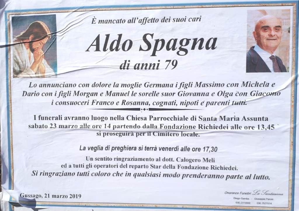 Necrologio Aldo Spagna 2019
