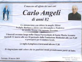 Necrologio Carlo Angeli 2019