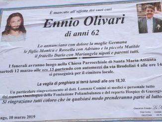 Necrologio Ennio Olivari 2019