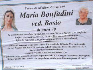 Necrologio Maria Bonfadini 2019