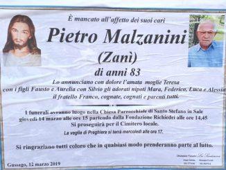 Necrologio Pietro Malzanini 2019