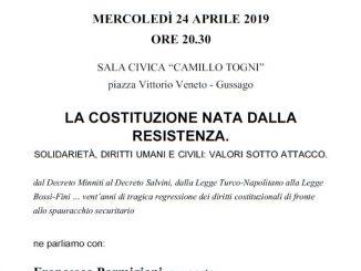 ANPI incontro Costituzione aprile 2019
