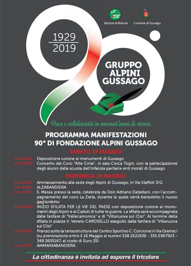 Alpini 90^ anniversario fondazione maggio 2019