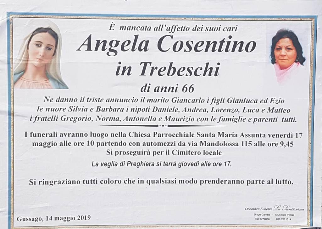 Necrologio Angela Cosentino 2019