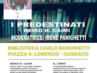 """Presentazione libro """"I Predestinati"""" maggio 2019"""